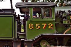 Locomotora de vapor en Inglaterra Fotos de archivo libres de regalías