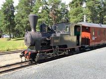 Locomotora de vapor en Noruega foto de archivo libre de regalías