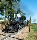 Locomotora de vapor en Sunny Summer Day fotografía de archivo libre de regalías