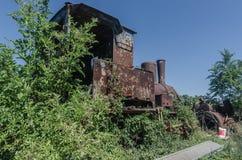 locomotora de vapor fundida vieja imagen de archivo libre de regalías