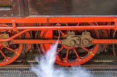Locomotora de vapor histórica Imagen de archivo libre de regalías