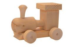 Locomotora de vapor modelo en el fondo blanco Foto de archivo libre de regalías