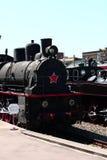 Locomotora de vapor negra Fotos de archivo