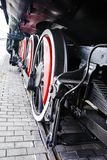 Locomotora de vapor negra Foto de archivo