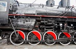 Locomotora de vapor negra Fotografía de archivo