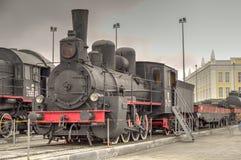 Locomotora de vapor rusa Fotografía de archivo