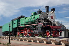 Locomotora de vapor rusa, construida en 1949, Nizhny Novgorod, Rusia Fotografía de archivo