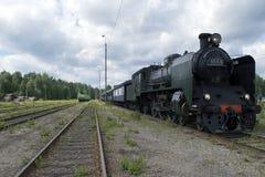 Locomotora de vapor Ukko-Pekka Fotografía de archivo libre de regalías