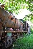 Locomotora de vapor vieja aherrumbrada fotografía de archivo libre de regalías