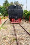 Locomotora de vapor vieja desde 1925 en el ferrocarril de Hua Hin, tailandés Fotografía de archivo