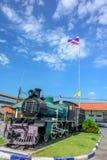 Locomotora de vapor vieja, tren del vintage Fotografía de archivo