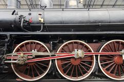 Locomotora del detalle de la rueda foto de archivo
