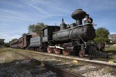Locomotora del ferrocarril del vintage en el soporte Dora Florida los E.E.U.U. Imagenes de archivo