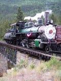 Locomotora del ferrocarril del indicador estrecho en Colorado Fotografía de archivo