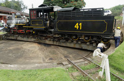Locomotora del motor de vapor Fotografía de archivo