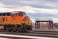 Locomotora del tren de ferrocarril de BNSF fotos de archivo libres de regalías