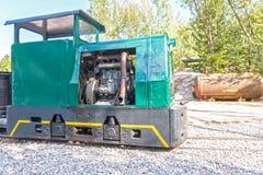 Locomotora del tren de la mina Imagen de archivo