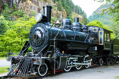 Locomotora del tren del motor de vapor Foto de archivo libre de regalías