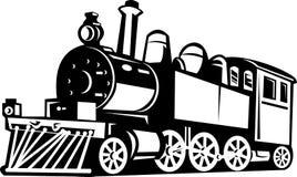 Locomotora del tren del vapor de la vendimia Fotos de archivo libres de regalías