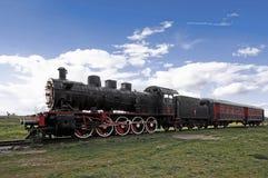 Locomotora del tren y de vapor Imagen de archivo libre de regalías