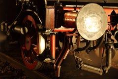 Locomotora del vapor en la noche imágenes de archivo libres de regalías