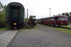 Locomotora del viejo estilo Imagenes de archivo