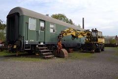 Locomotora del viejo estilo Foto de archivo libre de regalías