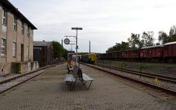 Locomotora del viejo estilo Fotografía de archivo