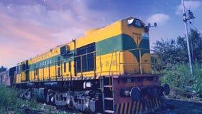 Locomotora diesel imagenes de archivo