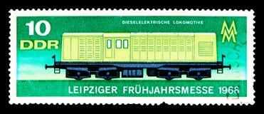 Locomotora diesel-eléctrica, serie justo de la primavera de Leipzig, circa 196 Imágenes de archivo libres de regalías