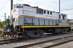 Locomotora diesel en el sitio histórico nacional de Steamtown en Scranton, Pennsylvania Foto de archivo libre de regalías