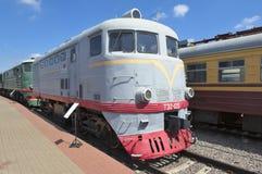 Locomotora eléctrica TE2-125 Imagen de archivo libre de regalías