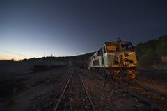 Locomotora eléctrica vieja Fotografía de archivo