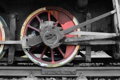Locomotora en los carriles Imagen de archivo libre de regalías