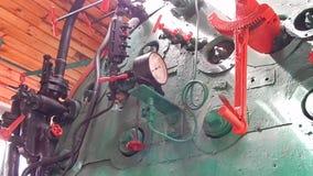 Locomotora ferroviaria, carros en el tren almacen de video
