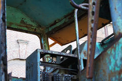 Locomotora oxidada vieja Foto de archivo