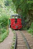 Locomotora roja Foto de archivo