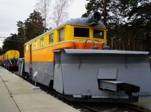 Locomotora soviética de la limpieza de la nieve Imagen de archivo