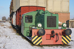 Locomotora vieja Imagen de archivo libre de regalías