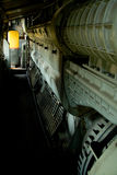Viejo interior locomotor fotografía de archivo libre de regalías