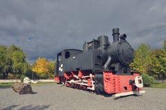 Locomotora vieja del motor de vapor Imágenes de archivo libres de regalías