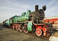 Locomotora vieja en Brest Bielorrusia imágenes de archivo libres de regalías