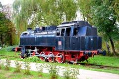 Locomotora vieja, hecha en Resita Imagen de archivo