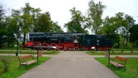 Locomotora vieja, hecha en Resita Fotografía de archivo