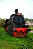 Locomotora vieja, hecha en Resita Imágenes de archivo libres de regalías