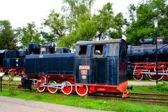 Locomotora vieja, hecha en Resita Imagen de archivo libre de regalías