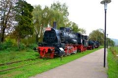 Locomotora vieja, hecha en Resita Fotos de archivo