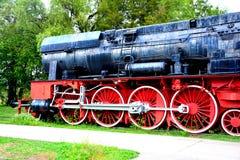 Locomotora vieja, hecha en Resita Foto de archivo