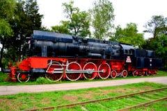 Locomotora vieja, hecha en Resita Fotos de archivo libres de regalías