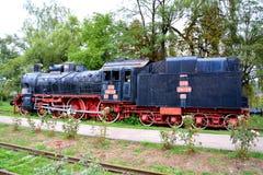 Locomotora vieja, hecha en Resita Imagenes de archivo